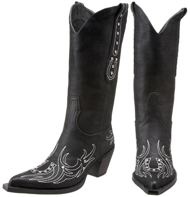 Black Cowgirl Boots Cheap - Yu Boots
