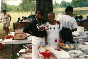 This is my second cousin, Felicia Hayes, and my grandmother, Queen Hayes.