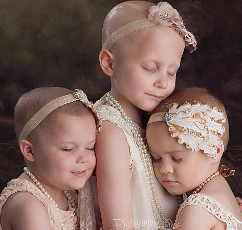 VIRAL: Photo of 3 Young Cancer Fighters InspireStrength