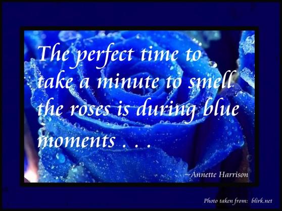 Smelling Blue Roses